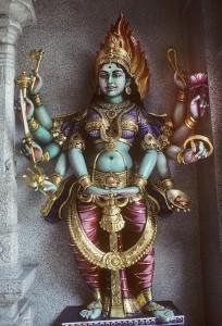 """Káli Istennő- """"A kijelölt idő"""" Istennője. A hindu vallás szerint a z új születéséhez elkerülhetetlen a régi pusztulása."""